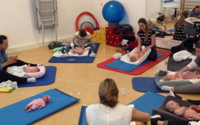 Eerste les babymassage